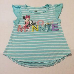 4/ $2O Disney Minni Mouse  turquoise T-shirt